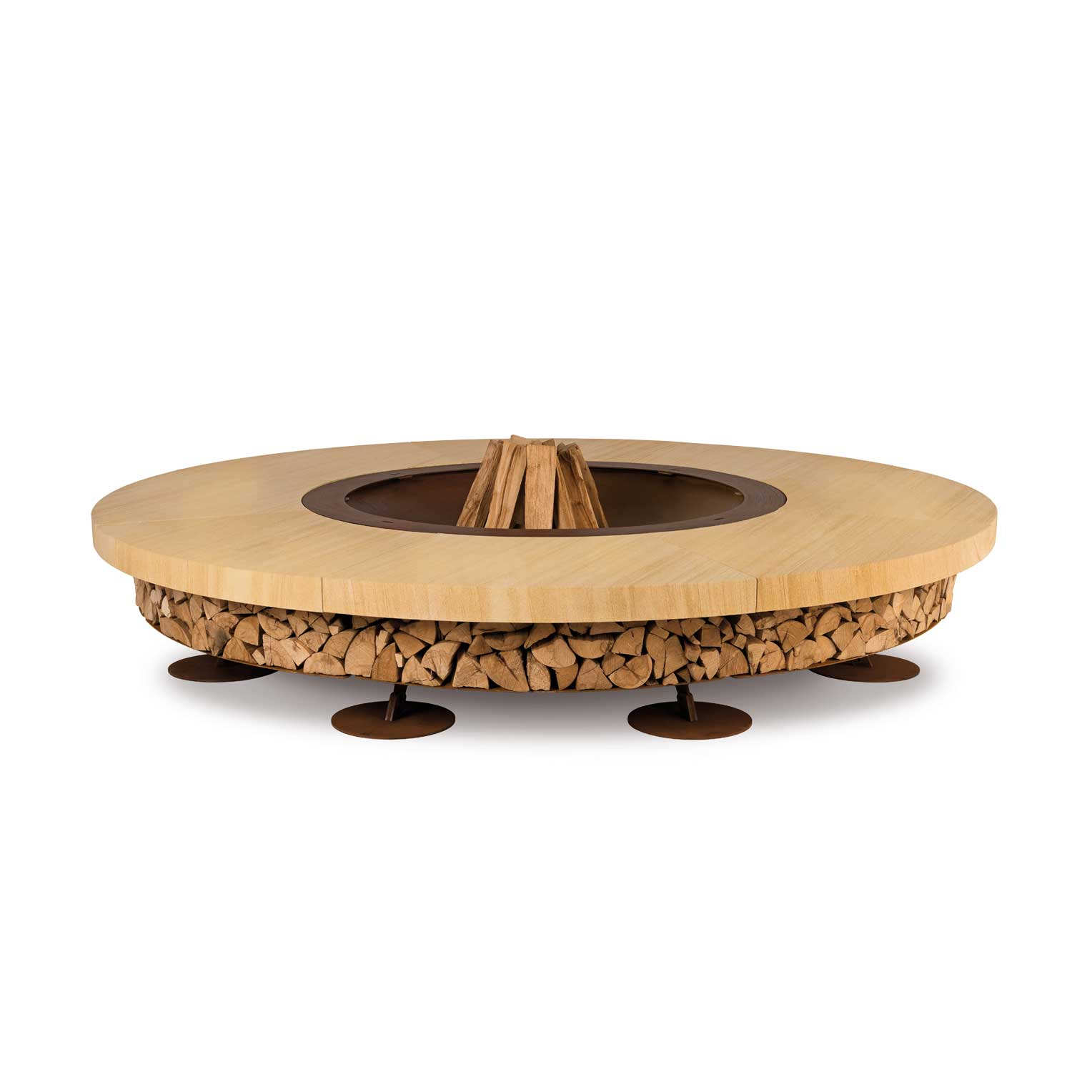 Outdoor Firepit Ercole Teakwood by AK47