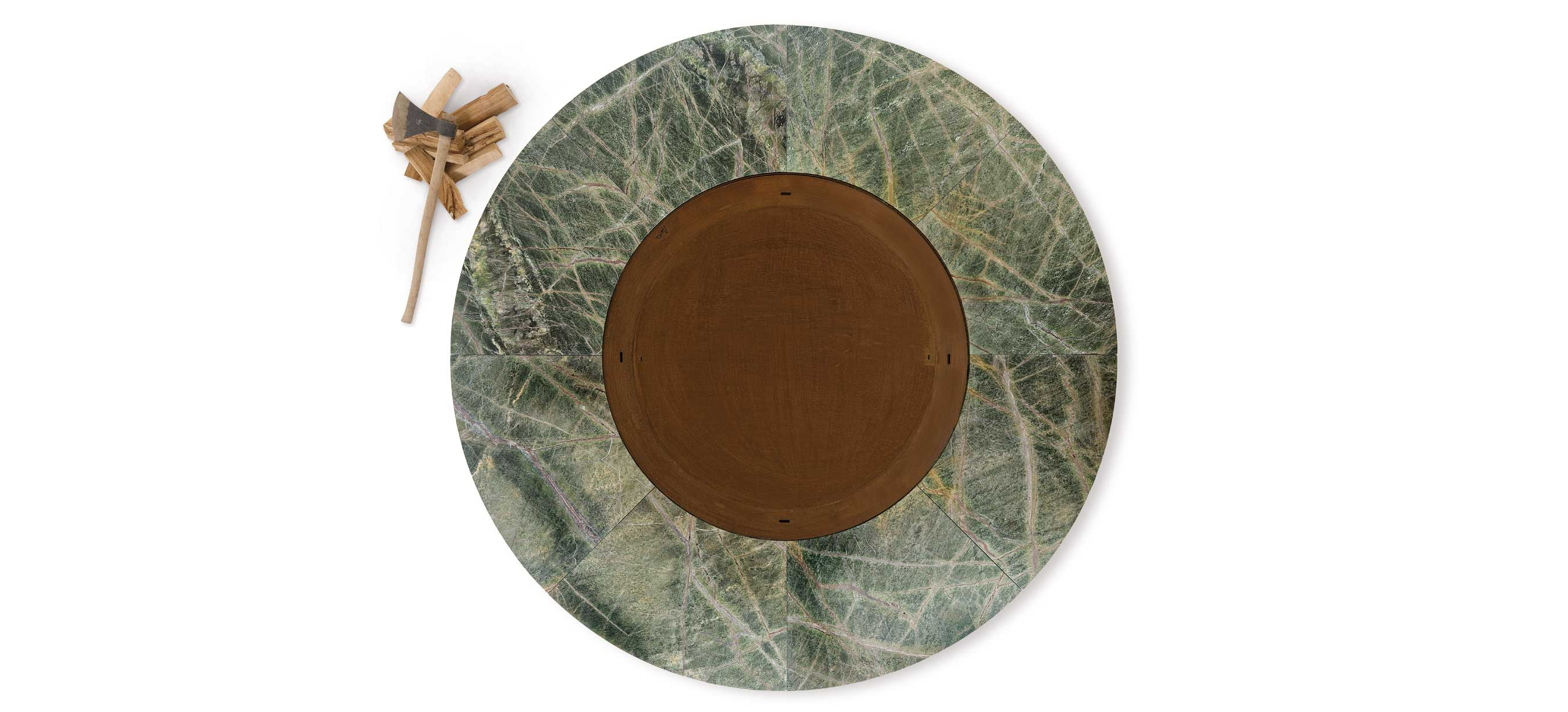 Ercole large Rain forest green marble