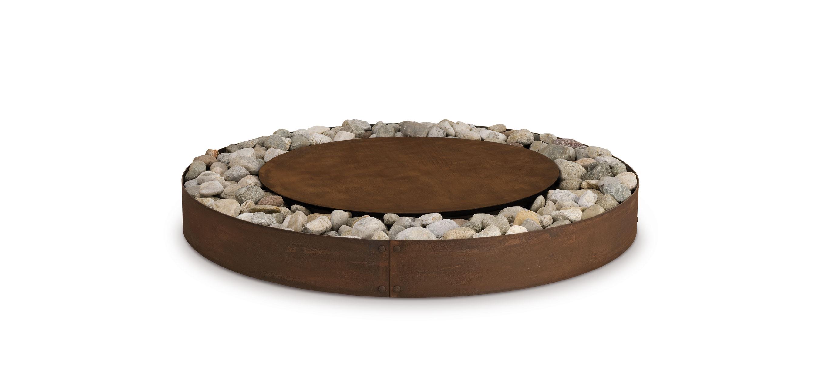 Zen oxidised steel
