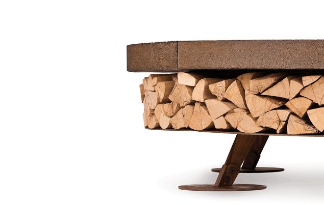 Ercole Concrete Medium Basic Grey Wood-Burning Fire Pit