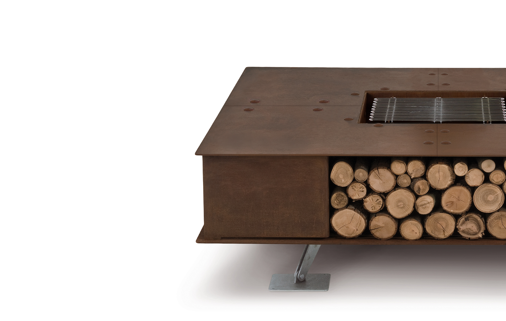 Toast Corten Natural Small Wood-Burning Fire Pit