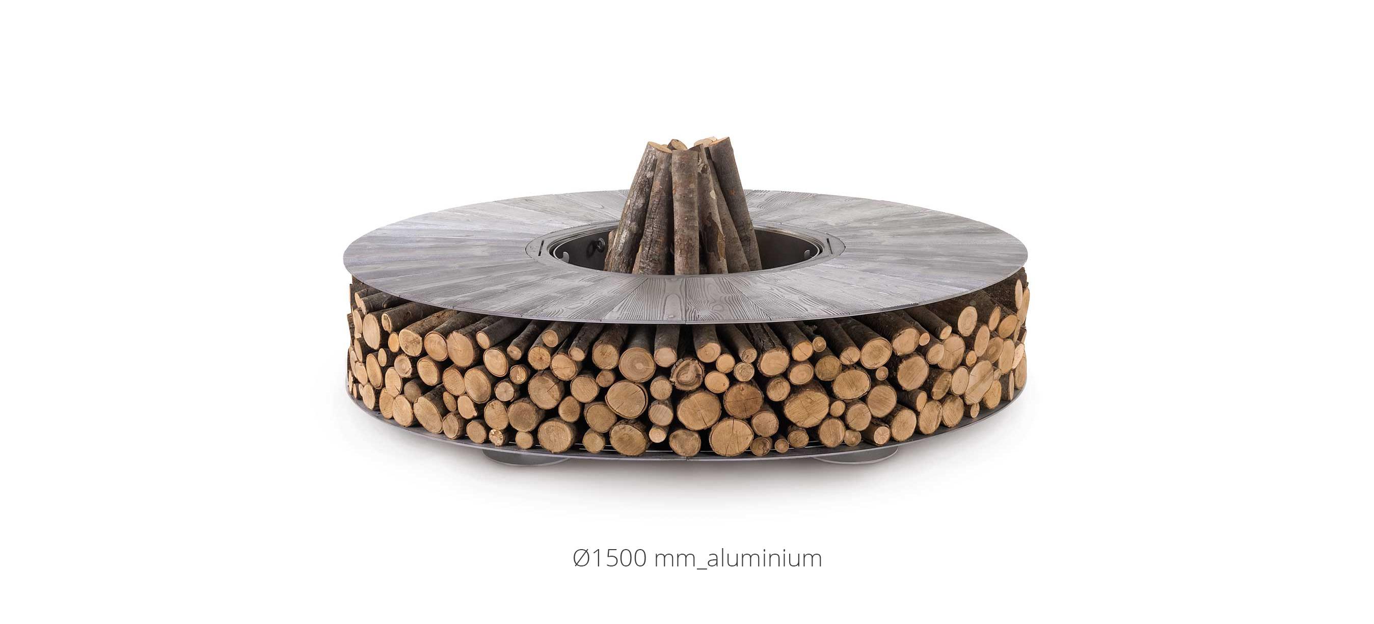 Zero Iron Brown Large Wood-Burning Fire Pit